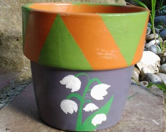 POT terracotta gross hand painted
