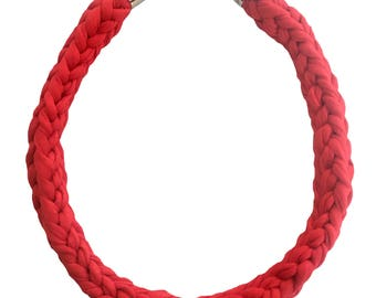 Ruby Crocheted Necklace