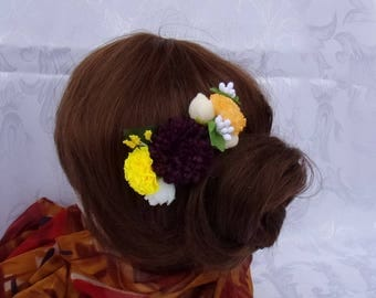 Comb hair with flowers artificial/attachment of marriage/comb barrette fabric flowers/flowers