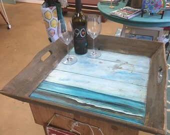 Reclaimed Wood Beach Tray
