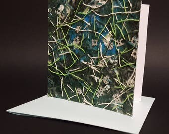 Handmade greeting card, Modern greeting card, Collage, Decoupage, Ready to frame greeting card, Greeting card as gift, OOAK greeting card