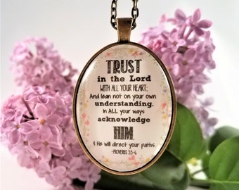 Trust in the Lord Proverbs 3:5-6 Necklace