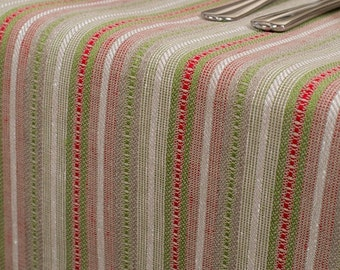 Linen Tablecloth - made in Europe - multi-colored - Striped