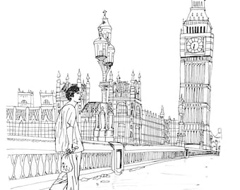 28 Days Later Illustration Print