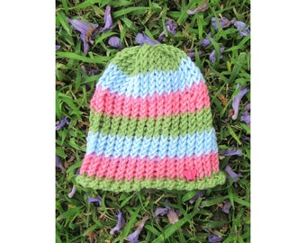 Girl's Stripy Funky Hat