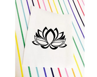 Lotus Decal 2 || Lotus Sticker 2 || Lotus Flower Decal Sticker Laptop | Flower Decal || Flower Sticker || Car Decal || MacBook Decal Laptop