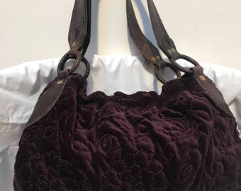 Velvet hobo bag | Etsy
