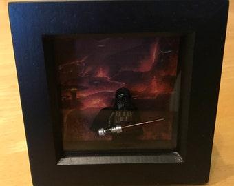 Star Wars - Darth Vader with Lightsaber Lego figure in frame
