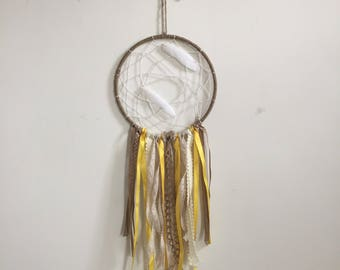 Yellow and Twine Dreamcatcher