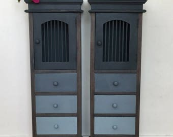 Chalk painted storage cabinets
