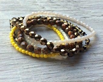 Glass Bead Strand Mix - 6 strands of Czech glass beads (ST05)
