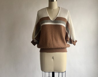 1970s Herald House Neutral Tones Knit Top