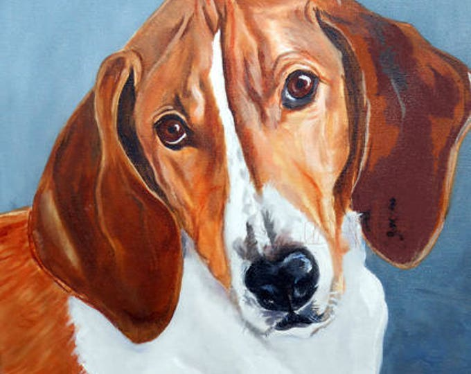 """Oil Painting Portrait of your dog, or any pet, 11"""" x 14"""" size"""