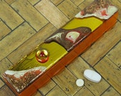 Gold Mirrored Enamel Pillbox--Medium 7-dose Strip
