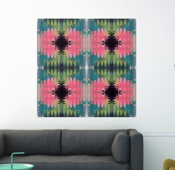 Abstract Art Print Canvas Square Bohemian Luxe Contemporary