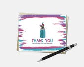 Art Party Thank You Card ...