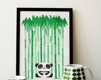 Happy Panda - A3 RISO print