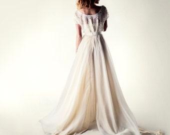 Wedding dress, Bohemian wedding dress, Lace wedding dress, Wedding separates,  Wedding outfit, Beach wedding dress, Reception dress,