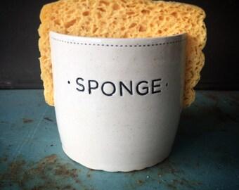 Sponge holder in black and white