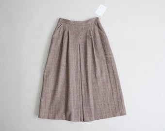 tweed mauve skirt | wool skirt | 70s wool skirt