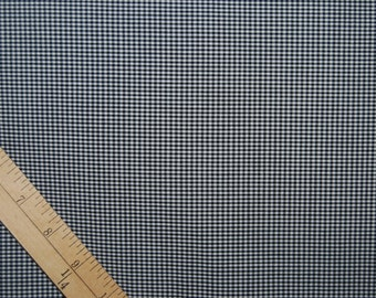Vintage gingham shirting fabric black and white checks rockabilly shirt dress fabric   5 yards