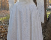 Reserved for Cierra  wedding dress ivory lace  tea length vintage  crinoline  romantic  small  from vintage opulence on Etsy
