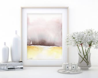"""Abstract Watercolor Painting, soft, Serene, Peaceful, Tranquil, Original art """"Ethereal Travels 7"""" Kathy Morton Stanion EBSQ"""
