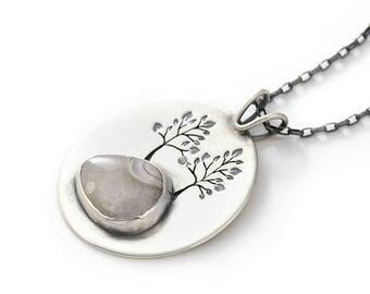 Handmade Kindred Spirits Sterling Silver, Lake Superior Agate Pendant