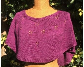 PDF knitting pattern, poncho, cape, capelet, Bella Poncho, knit capelet pattern, shoulderwarmer, wrap,