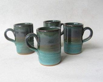 Espresso Cups Set of 4, Demitasse Set, Stoneware Espresso Cups, 4 oz Cups, Cups for Espresso