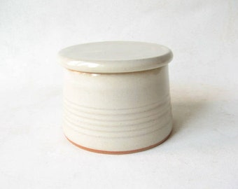 Pottery French Butter Dish, Butter Dish French Style, Butter Keeper