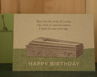 Natural Causes - letterpress birthday card