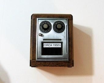Post Office Box 1950's Door Bank Dual Dial Combination Lock