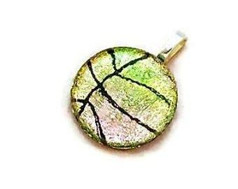 Basketball Necklace, Pink Mix Basketball Jewelry, Basketball Gift, Basketball Mom, Basketball Coach Gift, Girls Basketball, Basketball Charm