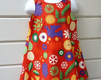 Scandanavian Style Christmas Jumper Ready to Ship in Size 2T or Made to Order in Sizes 6 mos to 8 years