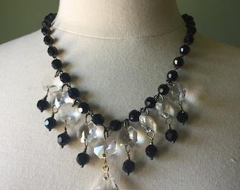 Beaded necklaces, statement necklaces, black necklaces, pendants, wedding necklaces, bridal jewelry, original design,  FREE SHIPPING