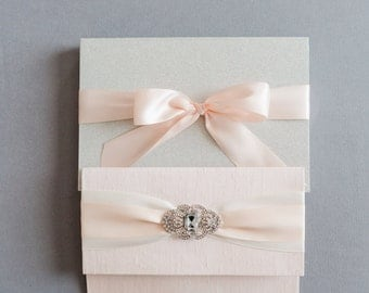 Crystal's Glittering Boxed Wedding Invitation - SAMPLE