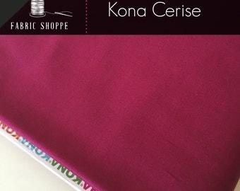Kona cotton solid quilt fabric, Kona CERISE 1066, Woodland Blanket Fabric, Quilt Backing, Kaufman, Woodland Nursery, Choose the cut