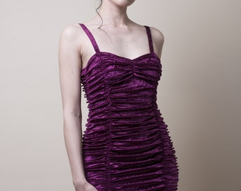 Crushed Velvet Mini Dress -Made to Measure (Your Size)
