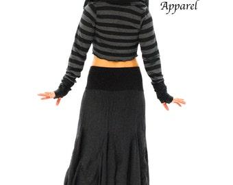 Black Wrap Hoodie, Festival Clothes, Intergalactic Apparel, Gypsy Clothes,