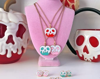 Poison Glitter Apple Necklace - Your Color Choice