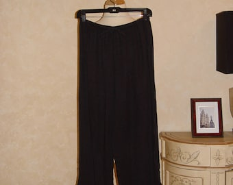 Black Linen Pants Small