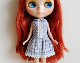 Drop waist plaid dress for Blythe