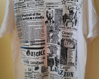 Newspaper silkscreen t-shirt