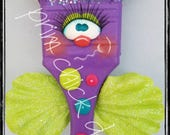 BRUSH BUDDIES - butterfly decoration potted plant poke hanger garden 2 inch chip paint brush prim chick teamhaha lisa robinson