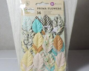 Prima Flowers Leaves, Scrapbook Supplies, Handmade Card Supplies