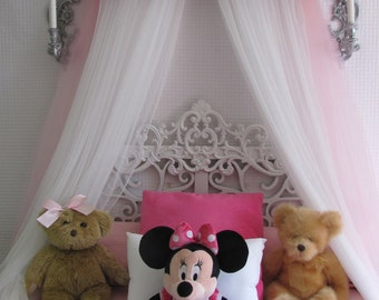 Disney Minnie Mouse Crib canopy cornice BED teester FULL Twin Queen Pink nursery Pink Yellow Padded & Crib Canopy Bed Crown JoJo Teesters Princess Mauve Pink brown