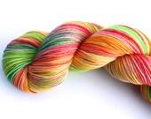 Just Ducky--hand dyed sock yarn, merino and nylon, (463yds/100gm)