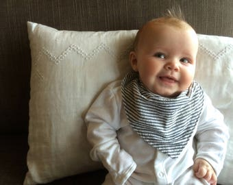 Bandana Bib | Seersucker Drool Bib | Striped Baby | Minimal Modern Baby Accessories | Baby Boy or Girl Bib