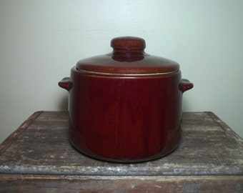 Vintage West Bend Rustic Baked Bean Crock with Lid
